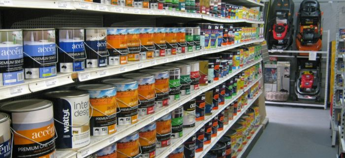 Paint Section, Mowers and Garden Equipment