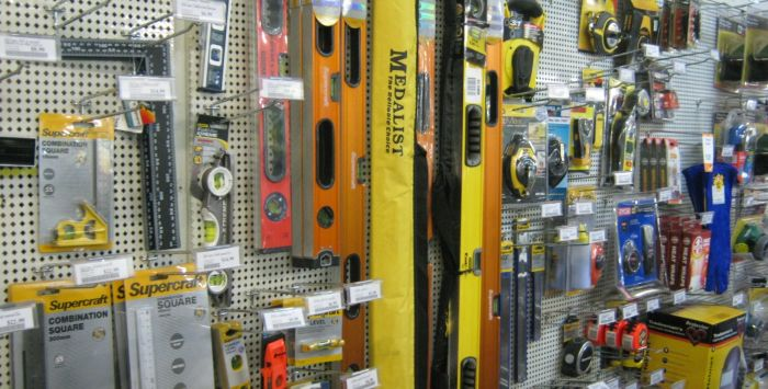 Hand Tools and General Hardware Supplies